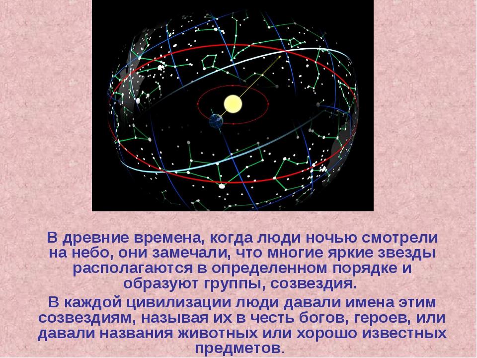 В древние времена, когда люди ночью смотрели на небо, они замечали, что многи...