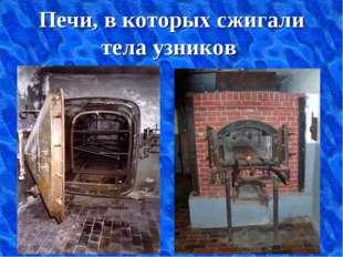 Печи, в которых сжигали тела узников