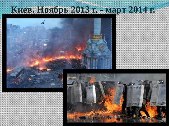 Киев. Ноябрь 2013 г. - март 2014 г.