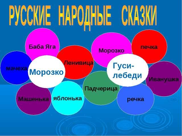 Баба Яга Машенька Ленивица мачеха яблонька Морозко Иванушка Падчерица Морозко...