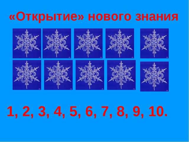 «Открытие» нового знания 1, 2, 3, 4, 5, 6, 7, 8, 9, 10.