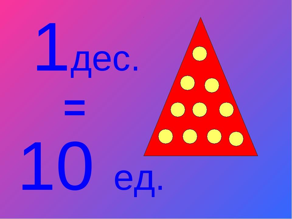 1дес. 10 ед. =