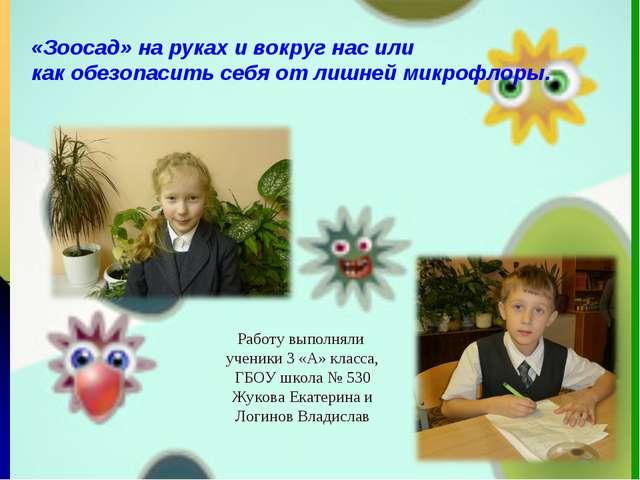 + Работу выполняли ученики 3 «А» класса, ГБОУ школа № 530 Жукова Екатерина и...