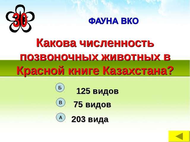 Какова численность позвоночных животных в Красной книге Казахстана?