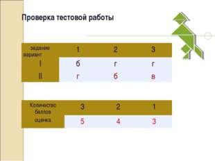 Проверка тестовой работы задание вариант123 Iбгг IIгбв Количество ба