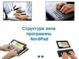 Структура окна программы WordPad