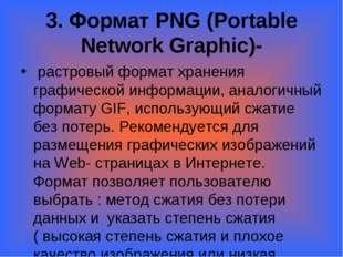 3. Формат PNG (Portable Network Graphic)- растровый формат хранения графичес