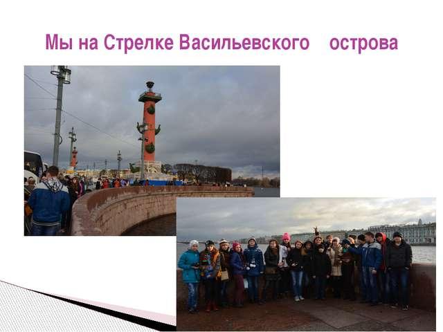 Мы на Стрелке Васильевского острова