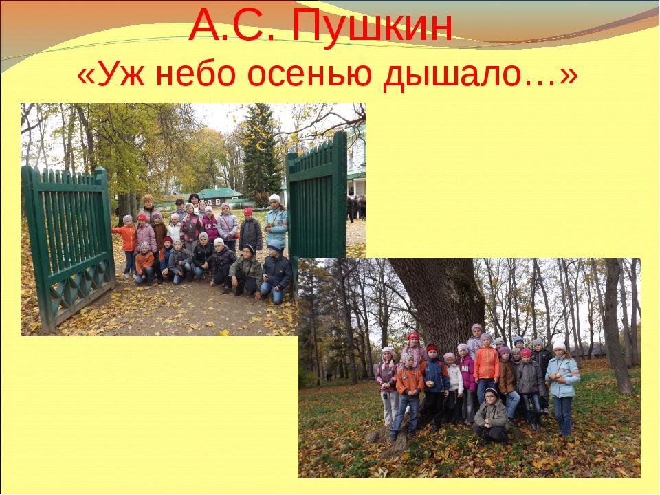 А.С. Пушкин «Уж небо осенью дышало…»