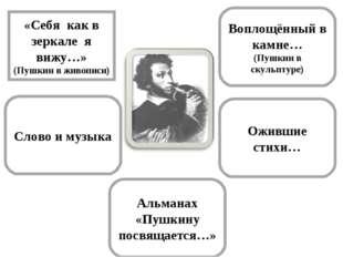 Воплощённый в камне… (Пушкин в скульптуре) «Себя как в зеркале я вижу…» (Пушк
