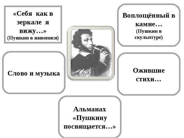 Воплощённый в камне… (Пушкин в скульптуре) «Себя как в зеркале я вижу…» (Пушк...