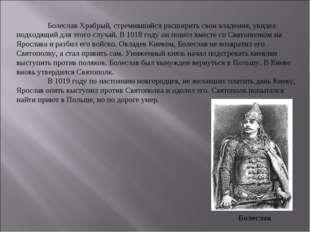 Болеслав Храбрый, стремившийся расширить свои владения, увидел подходящий дл