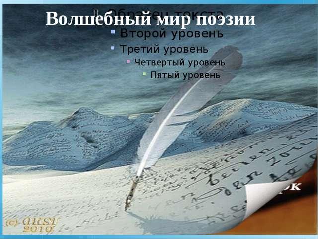 Волшебный мир поэзии