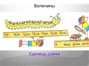 Величины Единицы длины