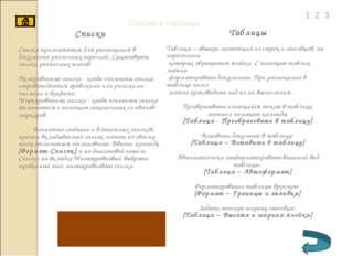 Списки и таблицы Списки Списки применяются для размещения в документе различн