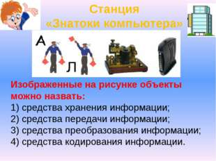 Изображенные на рисунке объекты можно назвать: 1) средства хранения информаци