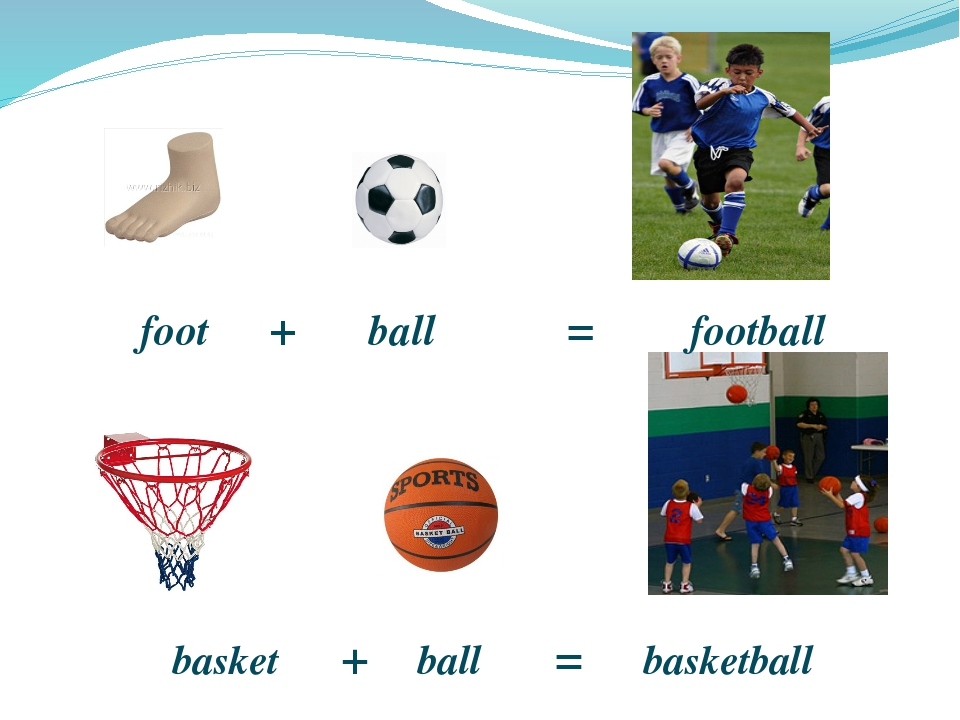 foot + ball = football basket + ball = basketball http://anapa-today.ru/uplo...