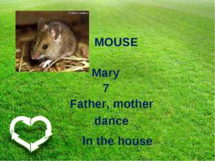 MOUSE Mary 7 Father, mother dance In the house