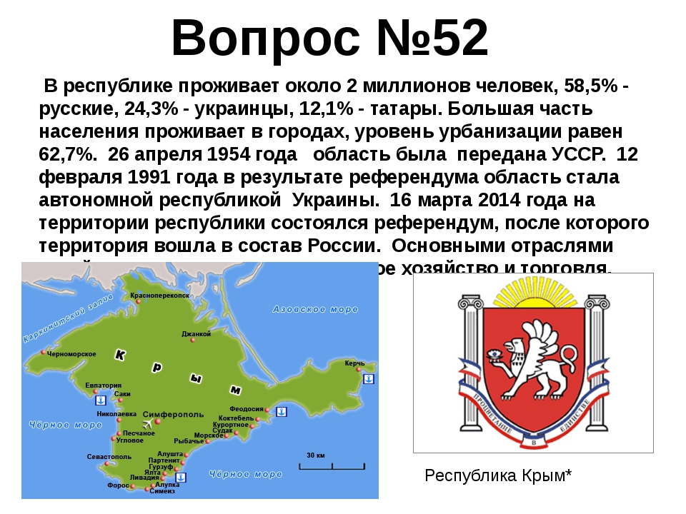 В республике проживает около 2 миллионов человек, 58,5% - русские, 24,3% - у...