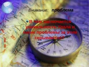 В чём заключается уникальность Урала и какие проблемы за этим скрываются? Вни