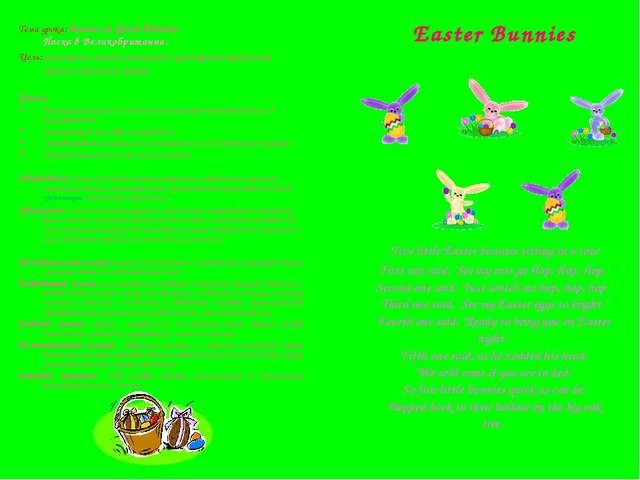 Тема урока: Easter in Great Britain. Пасха в Великобритании. Цель: расширение...