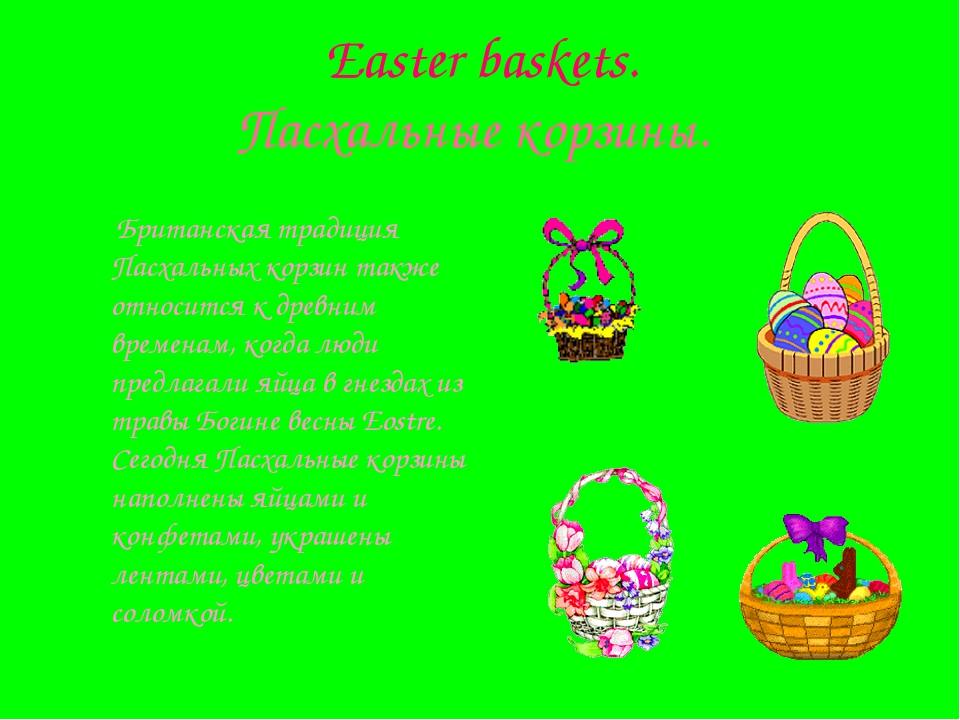 Easter baskets. Пасхальные корзины. Британская традиция Пасхальных корзин та...
