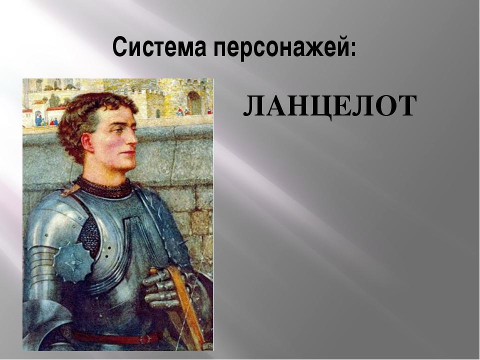 Система персонажей: ЛАНЦЕЛОТ