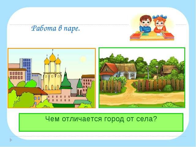 Работа в паре. Чем отличается город от села?