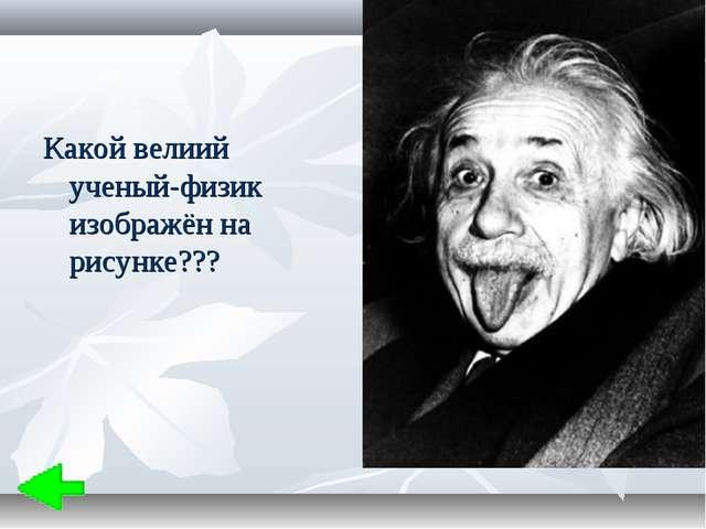 Какой велиий ученый-физик изображён на рисунке???
