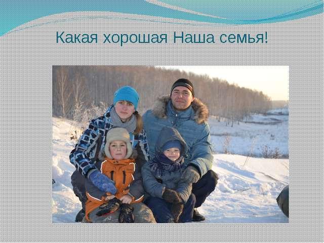 Какая хорошая Наша семья!
