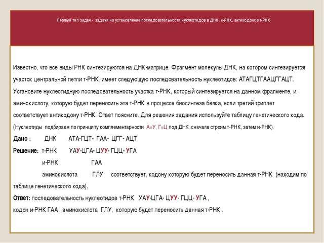 Известно, что все виды РНК синтезируются на ДНК-матрице. Фрагмент молекулы ДН...