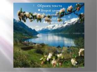 Велики контрасты в растительном покрове Южной Норвегии. Весной в долинах у п