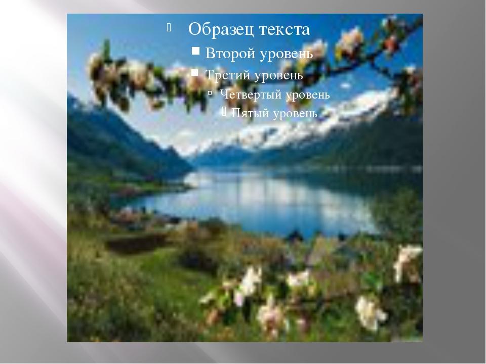Велики контрасты в растительном покрове Южной Норвегии. Весной в долинах у п...
