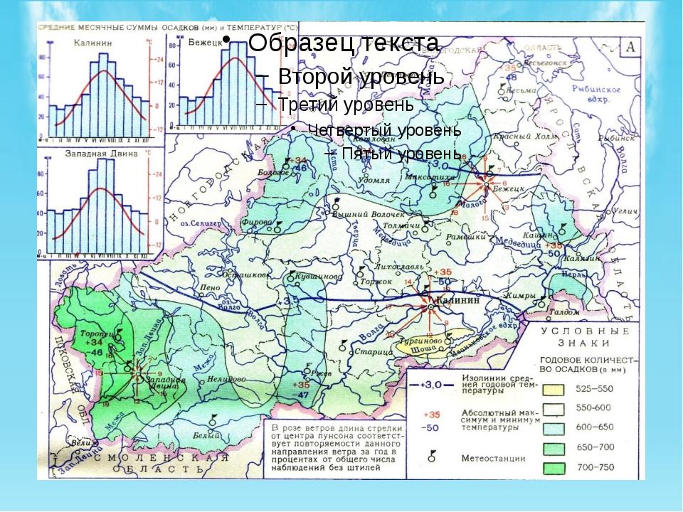 В Тверской области за год в среднем выпадает 550 - 750 мм осадков. Из всей с...