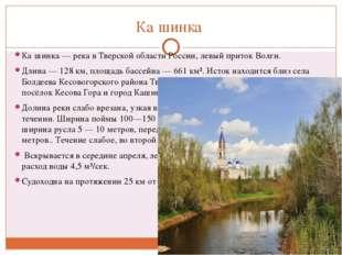 Ка́шинка Ка́шинка — река в Тверской области России, левый приток Волги. Длина