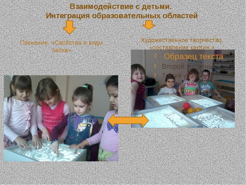 Взаимодействие с детьми. Интеграция образовательных областей Познание. «Свойс...