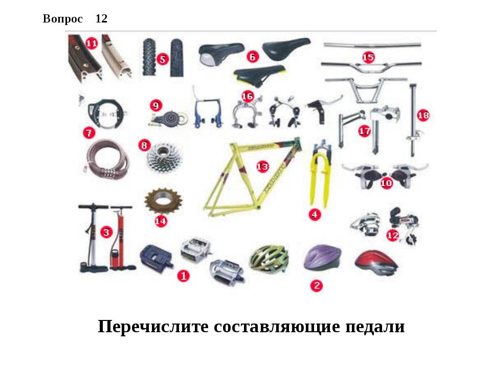 Вопрос 12 Перечислите составляющие педали