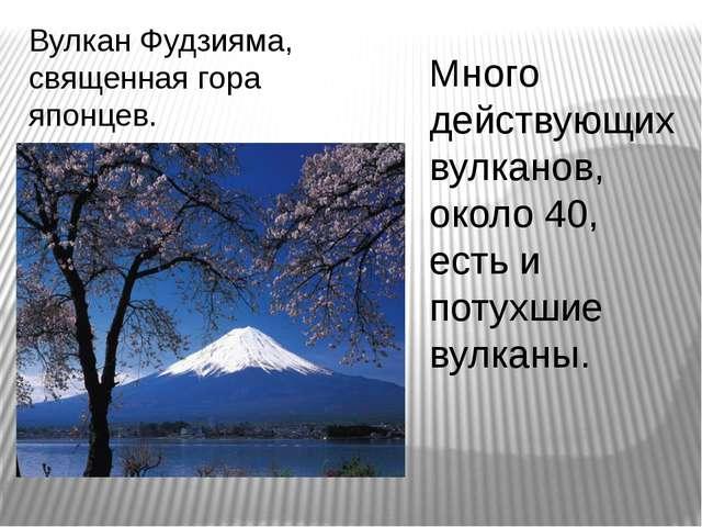 Вулкан Фудзияма, священная гора японцев. Много действующих вулканов, около 40...
