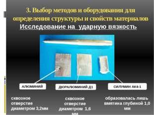 3. Выбор методов и оборудования для определения структуры и свойств материало