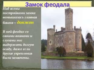 Над всеми постройками замка возвышалась главная башня – донжон В ней феодал с