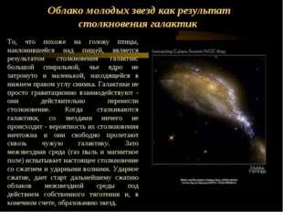 Облако молодых звезд как результат столкновения галактик То, что похоже на го