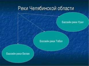 Реки Челябинской области Бассейн реки Белая Бассейн реки Урал Боссейн реки То
