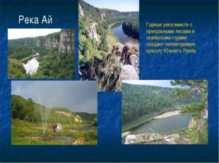 Река Ай Горные реки вместе с прекрасными лесами и скалистыми горами создают н