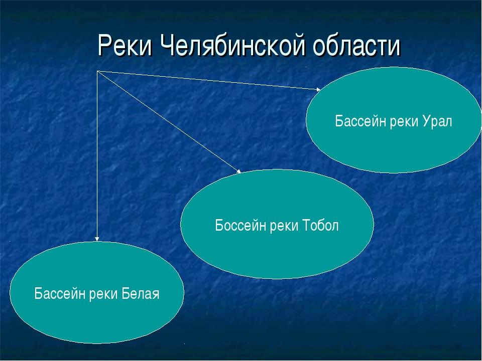 Реки Челябинской области Бассейн реки Белая Бассейн реки Урал Боссейн реки То...