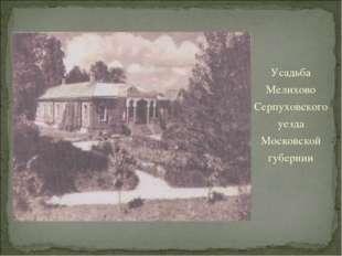 Усадьба Мелихово Серпуховского уезда Московской губернии