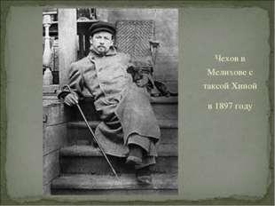 Чехов в Мелихове с таксой Хиной в 1897 году
