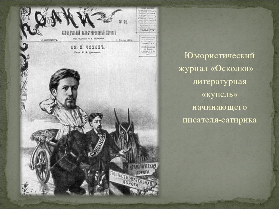Юмористический журнал «Осколки» – литературная «купель» начинающего писателя-...