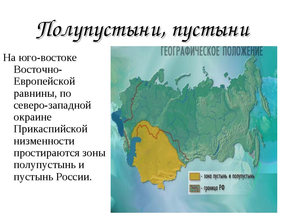 пустыни в россии географическое положение выглядеть