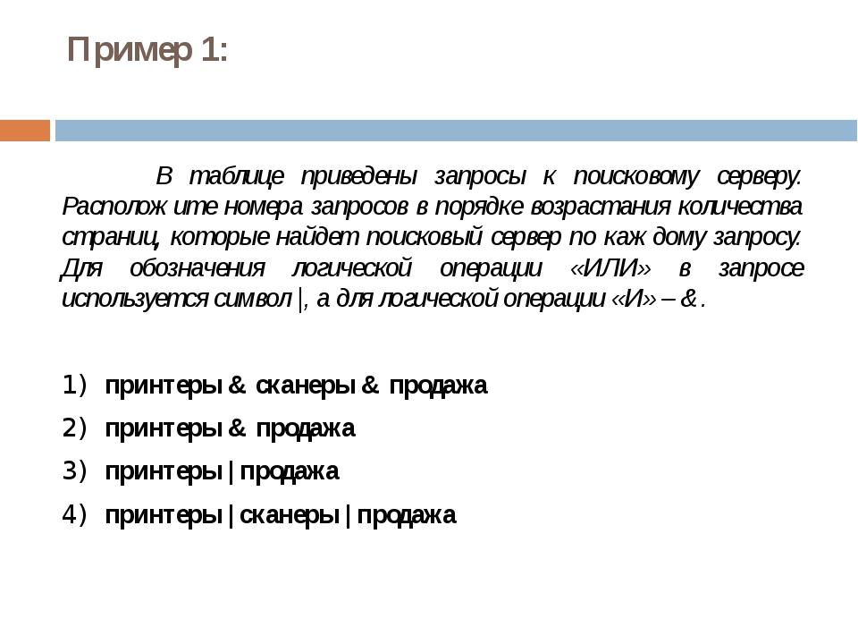 Решение (вариант 1, рассуждение с использованием свойств операций «И» и «ИЛИ...