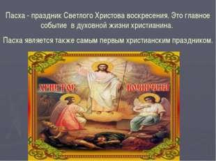 Пасха - праздник Светлого Христова воскресения. Это главное событие в духовно